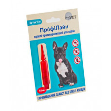 Капли на холку Профилайн инсектоакарицид для собак 4кг-10кг 1 упаковка 1 пипетка 1мл