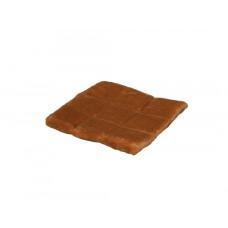 Подушка-лежак (поролон) для кошек и собак Мур-мяу квадратная 37х37см Коричневая