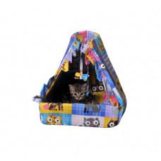 Лежак (лежанка) для кошек и собак Мур-Мяу Котик Разноцветный