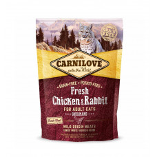Сухой корм для котов Carnilove Fresh Chicken & Rabbit Gourmand for Adult cats курица и кролик 400гр