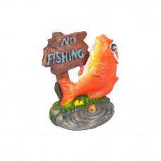 Рыбка с табличкой NO FISHING 5.5х4х5.5см