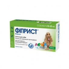 Капли для собак Фиприст СПОТ-ОН инсектоакарицид 10-20кг 1 упаковка 3 пипетки