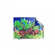 Фон для аквариума, растения и кораллы 50см,15м