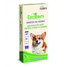 Капли ЕкоВет для средних пород собак 4 пипетки 1мл