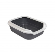 Туалет для кошек Comfort L 49х39х15см, серый