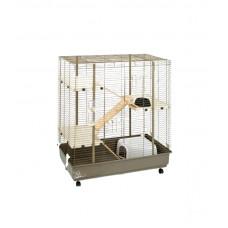 Клетка для грызунов AGATA 102x55x116см укомплектована, коричневая