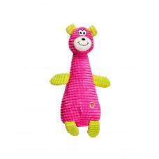 Игрушка для собак GimDog Зверушки FLUO FRIENDS 24.8см, розовый