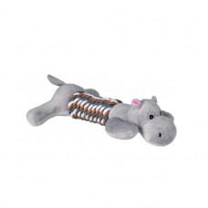 Игрушка из каната для собаки Бегемот 32см, 1шт