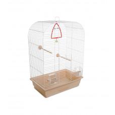 Клетка для птиц Аурика 44x27x64см белая/бежевая