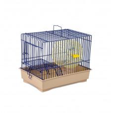Клетка для грызунов Давид-1 30x20x24см синяя/бежевая