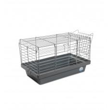 Клетка для грызунов Кролик 50 50x27x30см хром/серая
