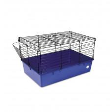 Клетка для грызунов Кролик 70 70x45x40см черная/синяя