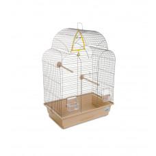 Клетка для птиц Изабель-1 44x27x61см хром/бежевая