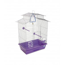 Клетка для птиц Изабель-2 44x27x65см хром/фиолетовая