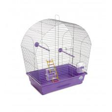 Клетка для птиц Лина 44x27x54см хром/фиолетовая