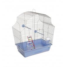 Клетка для птиц Мери 44x27x54см хром/светло-голубая