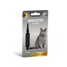 МОКСИСТОП для котов 4-10 кг, 1 уп. (1 пипетка 1.0 мл) (антигельминтик)