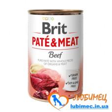 Brit Paté & Meat Dog k 400 g с говядиной
