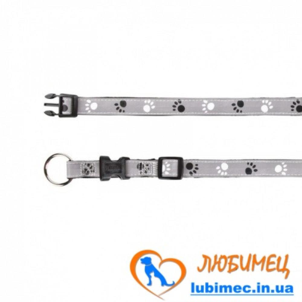 Ошейник Silver Reflect с лапами светоотраж. XS-S 22-35см/15мм