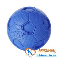 Игрушка NERF Soccer Squeak Ball зеленая/синяя маленькая д/собак