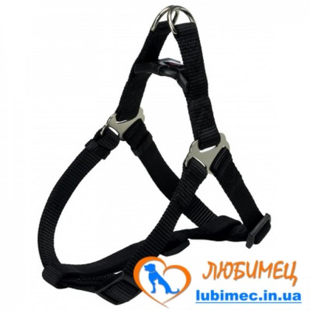 Шлея-петля Premium , M: 50–65 см / 20 мм, черная