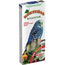 Колосок Коктейль для волн.попугаев (сафлорлесная ягодакокос) 90г