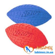 Игрушка NERF Tire Squeak Football мячик красный/зеленый маленький д/собак
