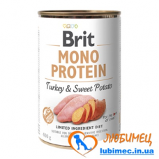 Brit Mono Protein Dog k 400 g с индейкой и бататом