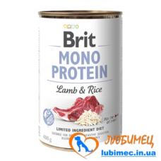 Brit Mono Protein Dog k 400 g с ягненком и темным рисом