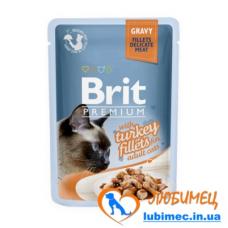 Brit Premium Cat pouch 85 g филе индейки в соусе
