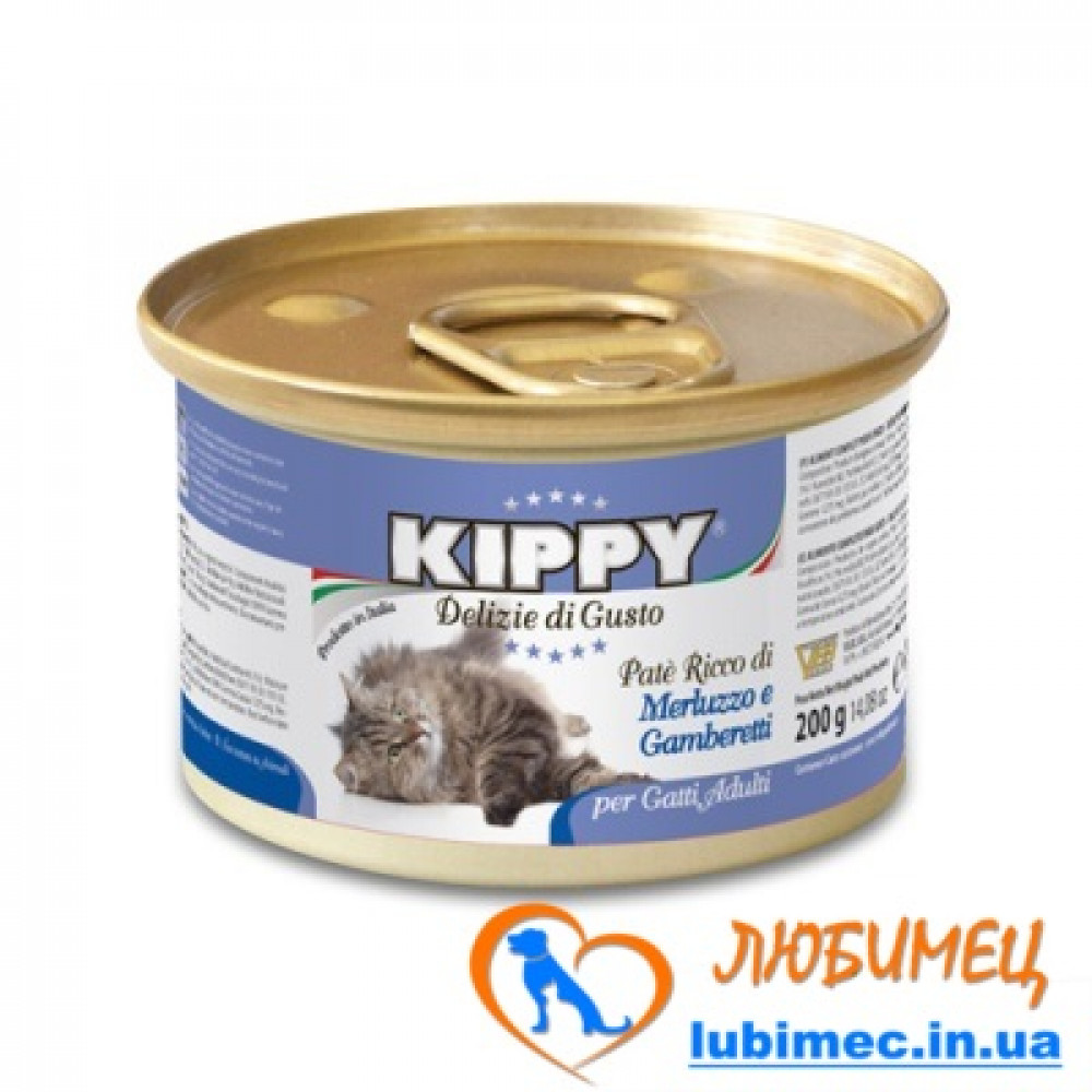 KIPPY Cat 200g. треска и креветки