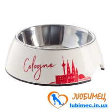 Hunter Cologne Melamine Feeding Bowl Миска из нержавеющей стали в подставке из меламина