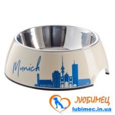 Hunter Munich Melamine Feeding Bowl Миска из нержавеющей стали в подставке из меламина