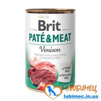 Brit Paté & Meat Dog k 400 g venison