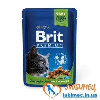 Brit Premium Cat pouch 100 g курица д/стерилизованных
