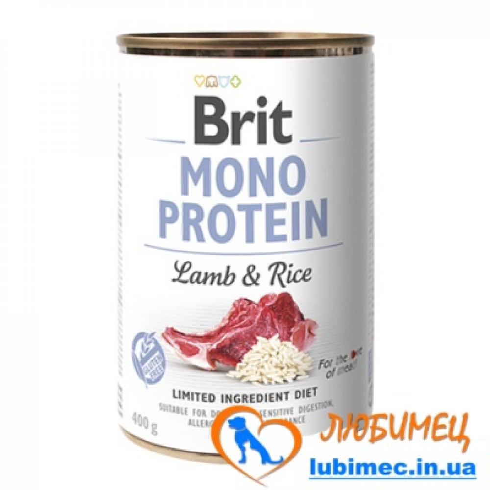 Brit Mono Protein Dog k 400 g с тунцом и бататом