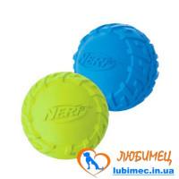 Игрушка NERF Tire Squeak Ball мячик зеленый/голубой маленький д/собак