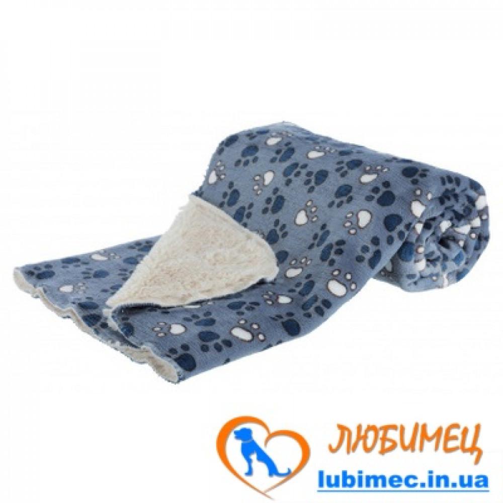 Коврик Tammy с лапками 100*70 см голубой/бежевый плюш
