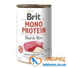 Brit Mono Protein Dog k 400 g с говядиной и темным рисом