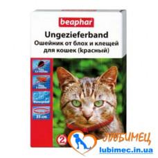 Ошейник а/б BEAPHAR д/кошек 35см красный