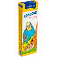 Корм и лакомство для волнистых попугаев Колосок Медовый Корм 140г