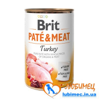 Brit Paté & Meat Dog k 400 g с индейкой