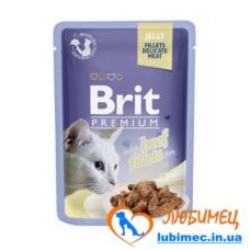 Brit Premium Cat pouch 85 g филе говядины в желе