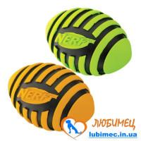 Игрушка NERF Spiral Squeak Football мячик красный/зеленый маленький д/собак