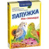 Корм для волнистых попугаев Природа Папужка йод + эхинацея 575г