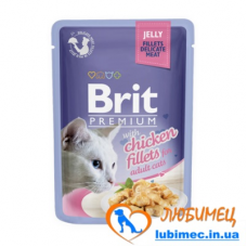 Brit Premium Cat pouch 85 g филе курицы в желе