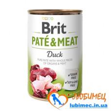 Brit Paté & Meat Dog k 400 g с уткой