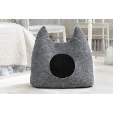 Домик для животных без подушки Digitalwool Ушастик 54 х 58 х 25 см Серый