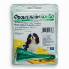 Капли Boehringer Ingelheim Фронтлайн Комбо Спот Он от блох и клещей для собак, S, 2-10 кг
