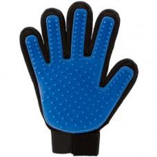Перчатка True Touch Blue для вычесывания шерсти для кошек и собак, 24х17см